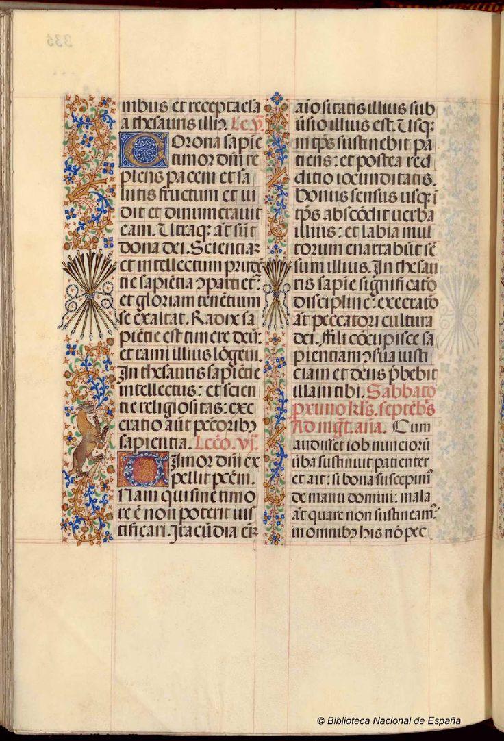 Breviario de Isabel la Católica. Manuscrito — 1495? http://bdh-rd.bne.es/viewer.vm?id=bdh0000013664&page=676 Vitr/18/8