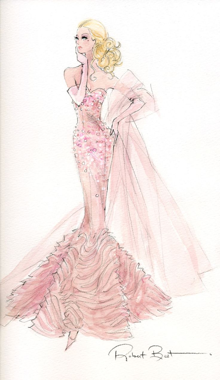 Robert Best - Barbie - BFMC Mermaid gown
