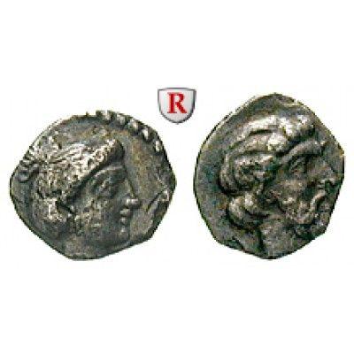 Kilikien, Nagidos, Obol 400-380 v.Chr., ss+: Obol 9 mm 400-380 v.Chr. Kopf der Aphrodite r. mit Ohrring und Halsband / Kopf des… #coins
