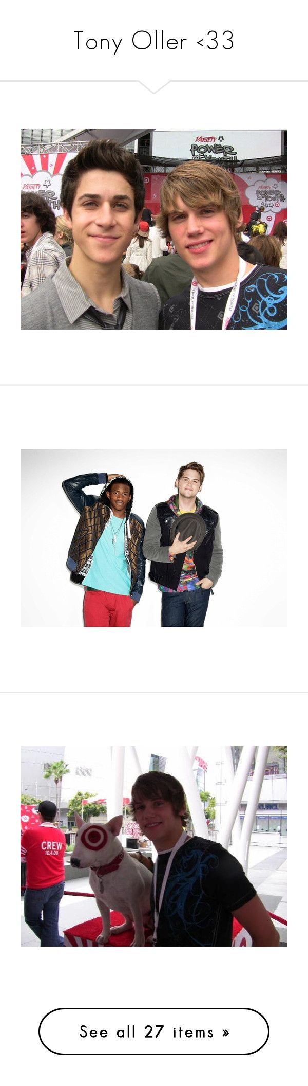 """""""Tony Oller <33"""" by whitneyjules ❤ liked on Polyvore featuring tony oller, david henrie, guys and people"""