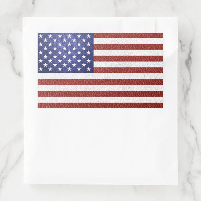 Faux Red White Blue Leather Usa Flag Rectangular Sticker Zazzle Com In 2020 Usa Flag Stickers Flag Shop Red And White