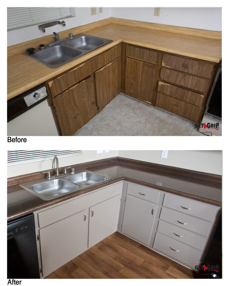 Resurfaced Cabinets And Countertops
