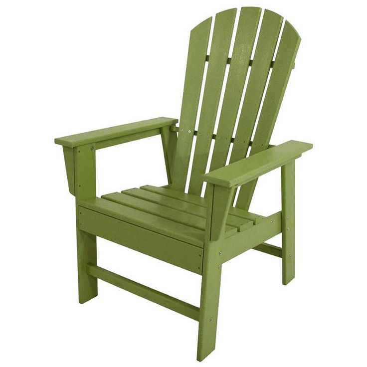 Outdoor POLYWOOD® South Beach Recycled Plastic Adirondack Chair Lime    SBD16LI