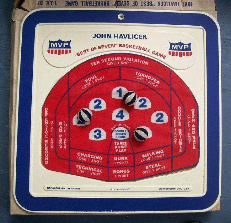 RARE 1974 I.M.M. John Havlicek BEST OF SEVEN Basketball Dart Game BOSTON CELTICS