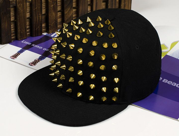 2014 New Arrive Fashion punk rivets hip hop flat along baseball caps peaked hats Snapback caps for man and woman free shipping
