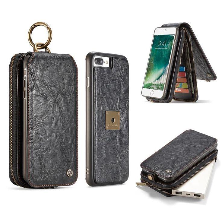 Caseme Multifunctional Detachable Zipper Wallet Card Slots Case For iPhone 7 Plus & 8 Plus Sale - Banggood.com