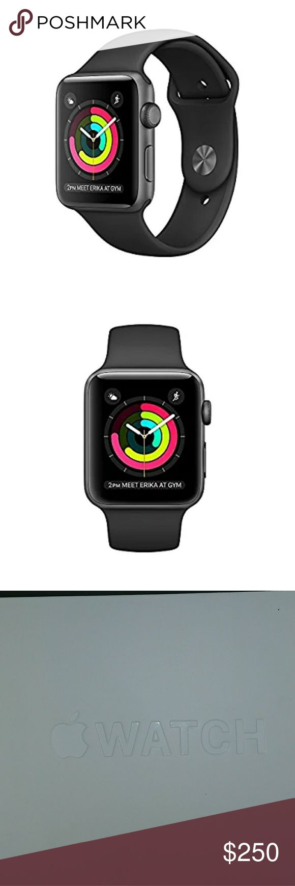 Apple Watch Series2 *Brand new in box Apple Watch Series 2 *42mm case Space Gray Aluminum *Black sport band *Comes with Large and Small bands, usb power adapter, magnetic charging cable *No scratches or flaws of any kind Apple Accessories Watches