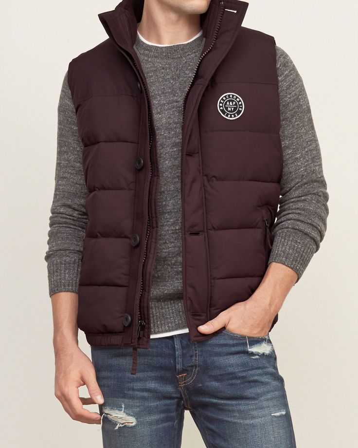 Mens A&F Puffer Vest | Mens Outerwear & Jackets | Abercrombie.co.uk