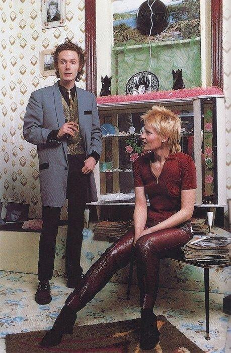 マルコム・マクラーレンとヴィヴィアン・ウェストウッド、1971。  Teddy Boys Style ピン元ではないが参考に...。