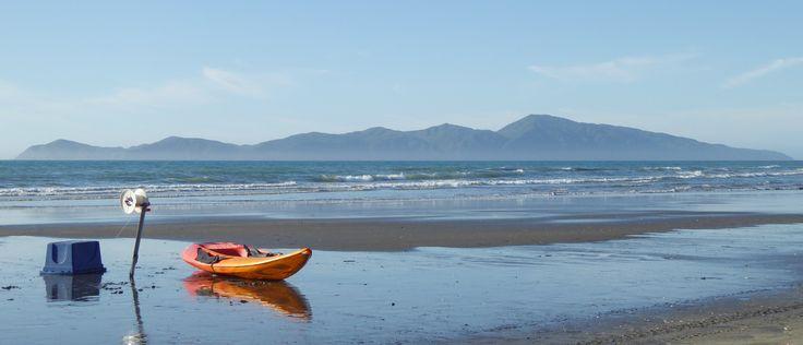 Fishing with long line from Paekakariki beach NZ.