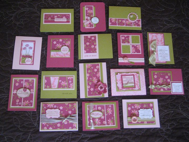 one page wonder card template images   ... of each card, please visit my facebook page, Pretty Paper Parfait