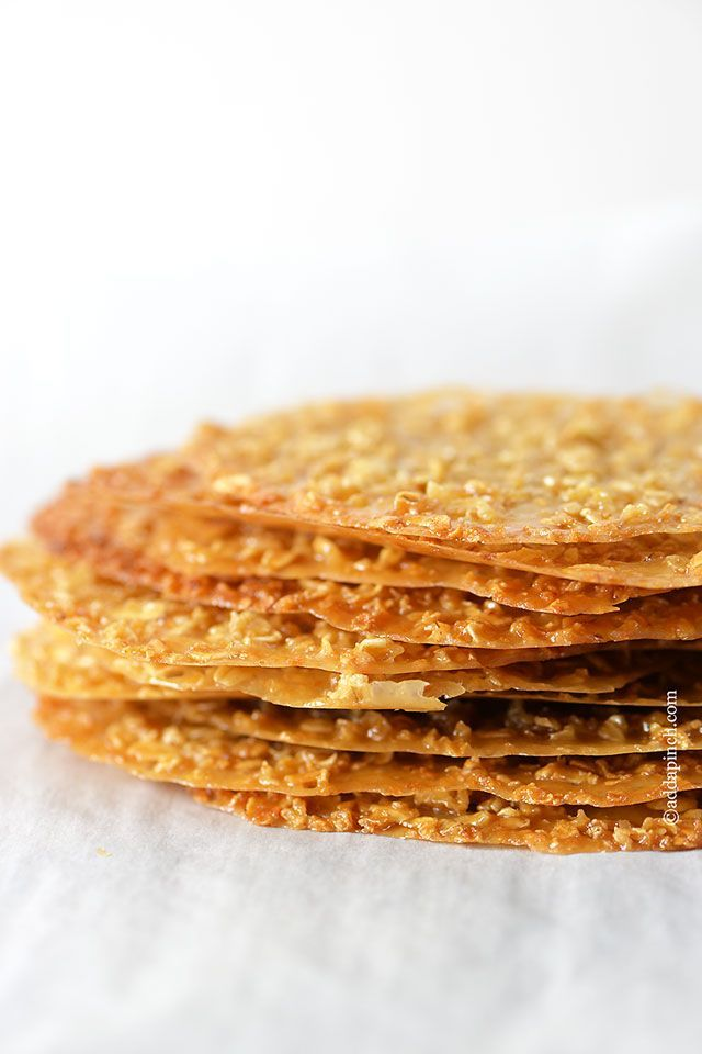 Oatmeal Lace Cookies Recipe - Cooking | Add a Pinch | Robyn Stone