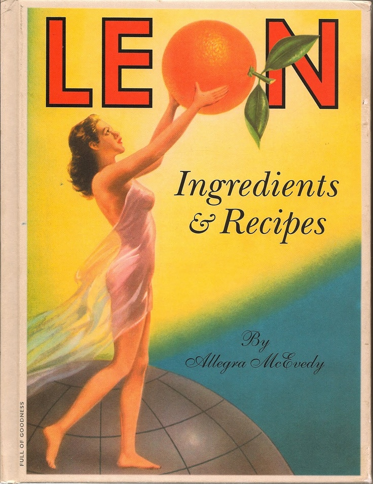 "Book 1 from Leon, a fantastic London ""fast food"" restaurant."