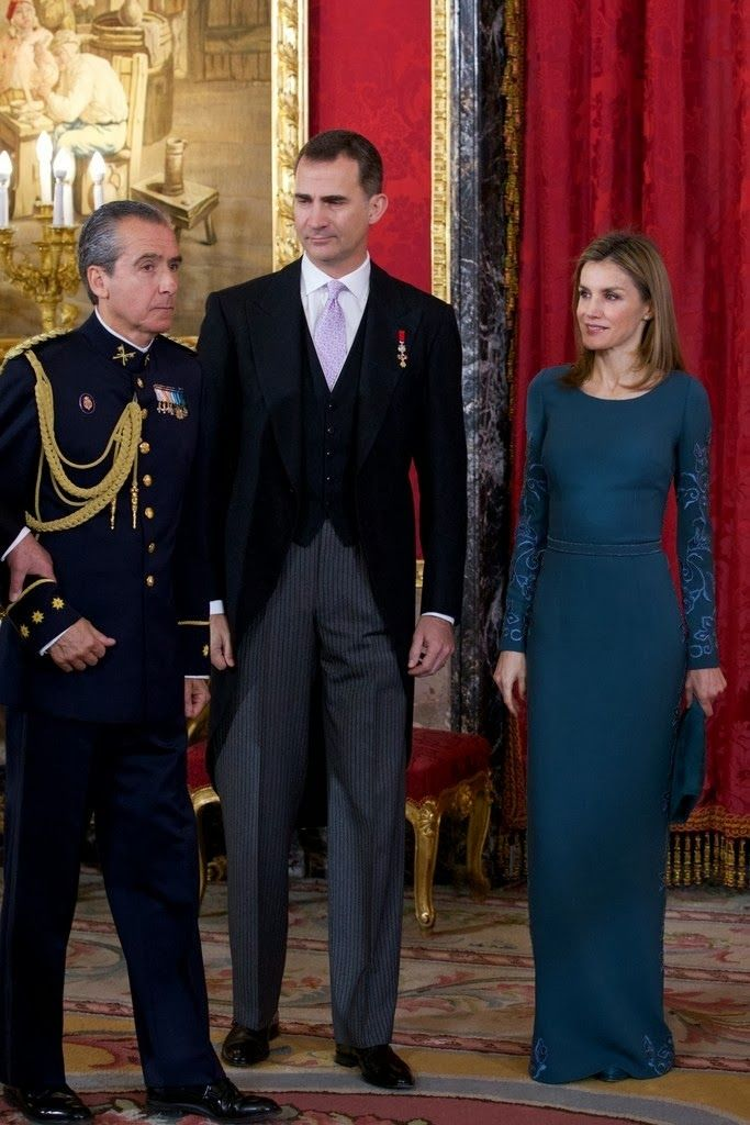 05 FEBRUARY 2014 Spanish Royal Family attended the  annual Foreign Ambassadors reception at the Royal Palace in Madrid.