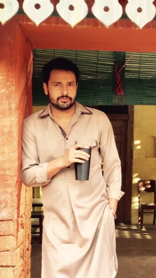 Amrinder Gill Punjabi Singer, Actor, Anchor Photo shoot on Set Upcoming movie Lahoriye in Lahore, Pakistan. DjBaap.com