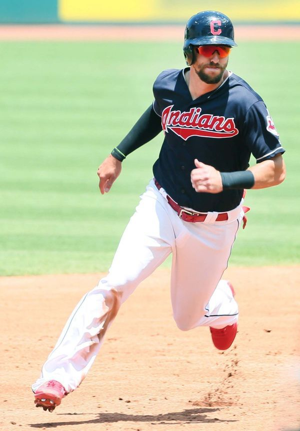 Cleveland Indians Lonnie Chisenhall, during the game against the Minnesota Twins at Progressive Field, Cleveland, Ohio, on June 25, 2017. (Chuck Crow/The Plain Dealer).