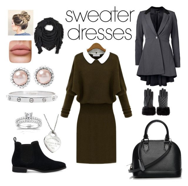 """""""cute and cozy work outfit ❤"""" by louisa-hesske ❤ liked on Polyvore featuring WithChic, TOMS, Venus, Louis Vuitton, Miu Miu, Cartier, Annello, Tiffany & Co., Echo and Isotoner"""