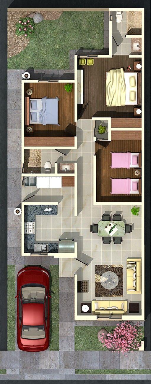 Las 25 mejores ideas sobre planos de casas peque as en - Planos de casas de una planta pequenas ...