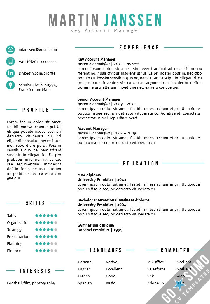 50 Best Go Sumo Cv Templates | Resume | Curriculum Vitae Design