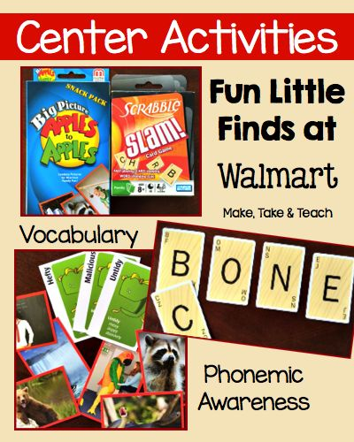 Fun little finds at Walmart that are perfect for building vocabulary, phonics and phonemic awareness skills.