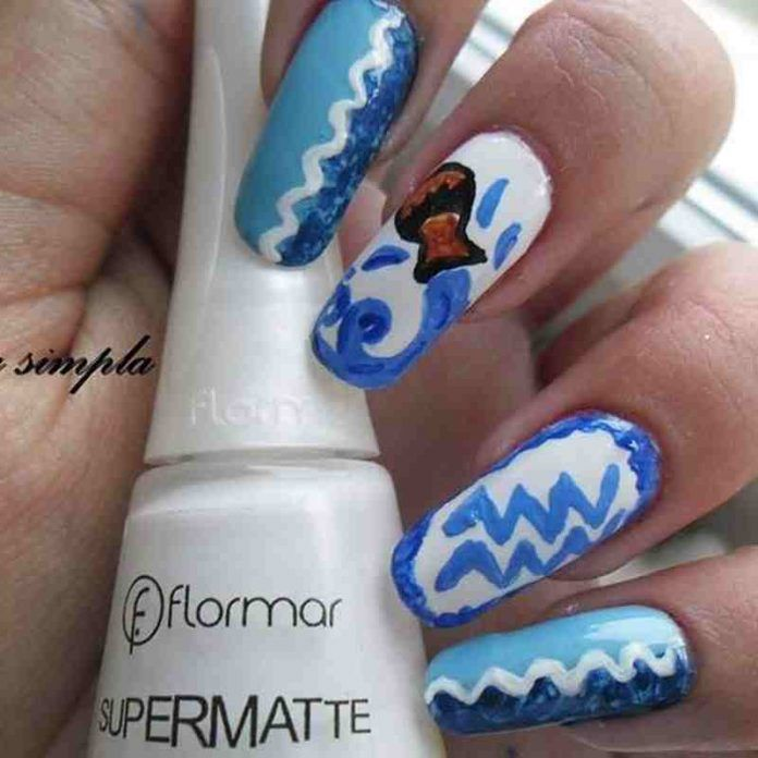 New Fab Aquarius Nails Ideas For 2019 Stylish F9 Nails Nail Designs Nail Art