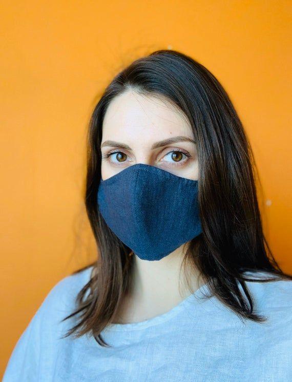 Reusable Fabric Face Mask Washable Face Mask Linen Face Mask
