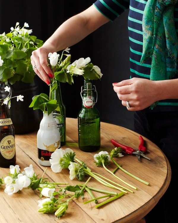 St. Patrick's Day Beer Bottle DIY   Naked Bouquet