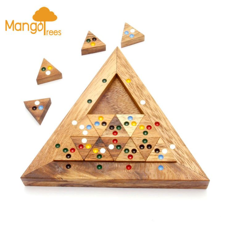 MANGO TREES The Bermude Triangle - Wooden 3D Logic Wood Brain Teaser Puzzle