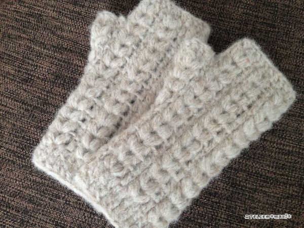 【編み図】玉編みの大人用ハンドウォーマー – かぎ針編みの無料編み図 Atelier *mati*