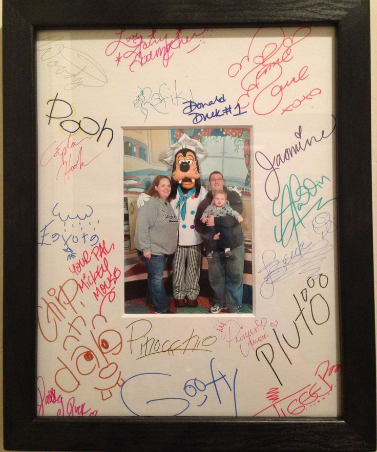 get an autograph photo mat and have disney characters sign that instead or along with autograph