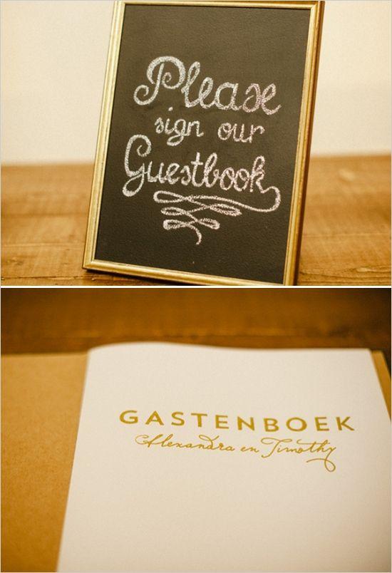 elegant guestbook #guestbook #contemporarywedding  #weddingchicks http://www.weddingchicks.com/2014/01/03/contemporary-wedding/