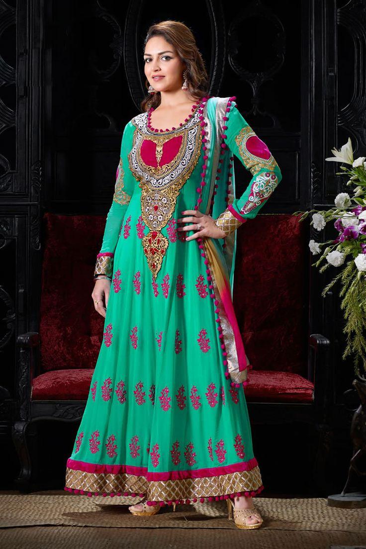 25 best Esha Deol Salwar Kameez Online images on Pinterest | Long ...