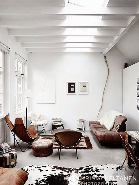 Leather in the living room