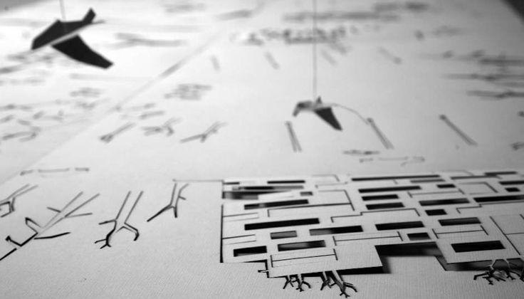 "Frame from the video ""Paper movie"" (RO 2008, 3'26"") by SYAA - Soare & Yokina Arhitecti. /// ""In ""Paper movie"", Sayaa studio explores the process of the architectural creation and narrates a fictional urban space from the architects' perspective. The Romanian designers created a short stop-motion movie by putting together some unofficial paper models that represent their overall planning production. (...)"" /// #architecture #video #image @WeAreImage"