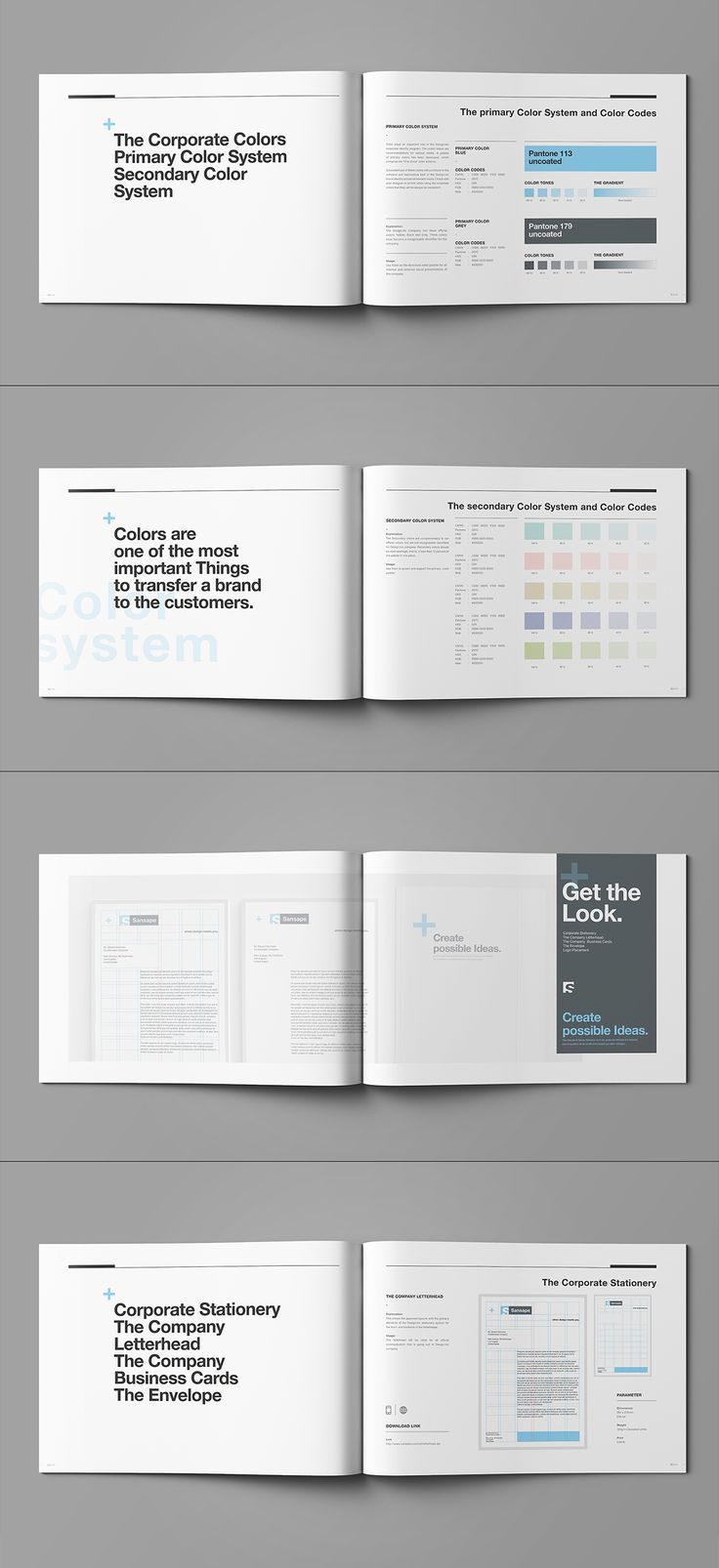 Brand Manual and Identity Template – Corporate Design Brochure – with 44 Pages…