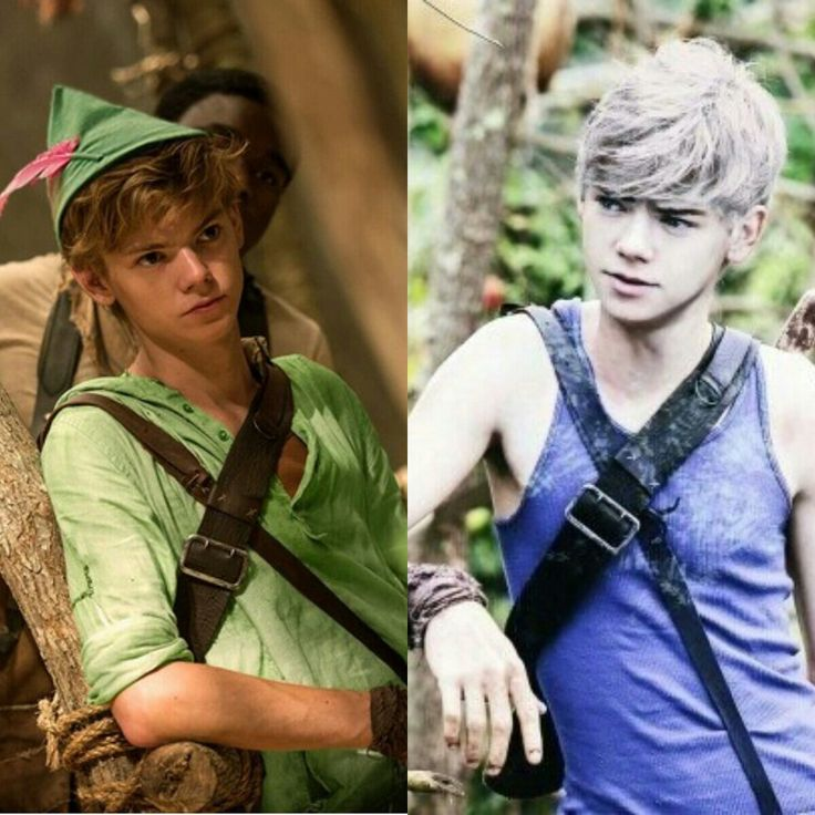 Thomas Brodie-Sangster as Peter Pan and Jack Frost HE IS A PERFECT JACK FROST! MARRY ME! *dies*