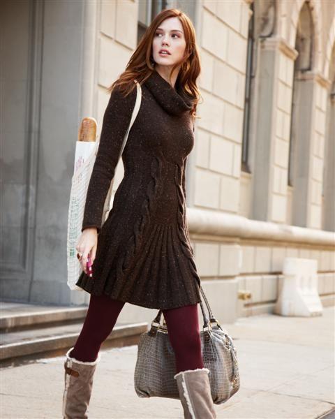 ruffle sweaters and leggings -Those boots are ugly! j/s See more. Top 10 Ways to Wear Leggings - long sweater, leggings, necklace Find this Pin and more on My Style by Whitney Schoeck. Over-sized sweaters + leggings. Cute, if only I could find a sweater big enough now.