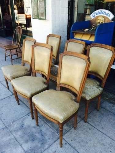 antiguo juego de 6 sillas francesas se entregan impecables