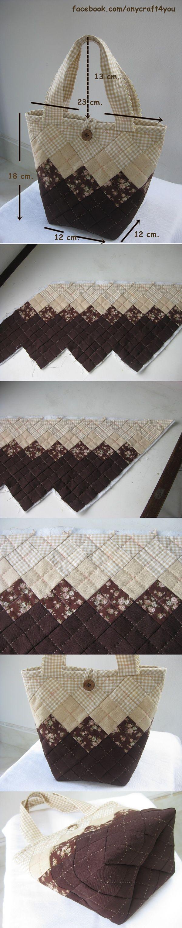 Brownie square lumch bag.