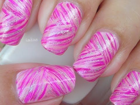 Nail Art – Oktober in Pink: Rosa Bänder – Decoración de uñas – Brustkrebs …   – Mom's Style