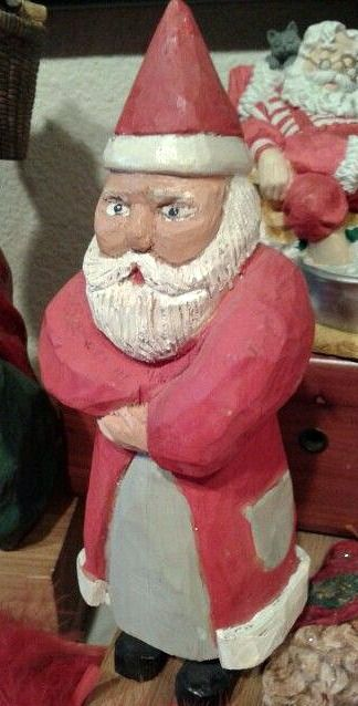 Santa carved by my father: