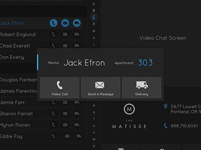 Touchscreen Interface Popup // Dark