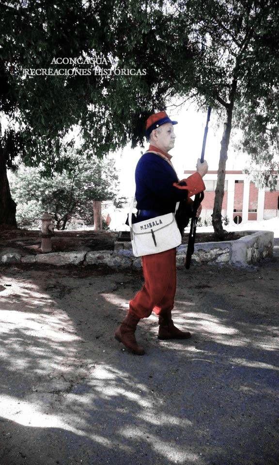 Recreando la historia en el Regimiento de Infantería Maipo N° 2, en Playa Ancha, Valparaíso. 2017
