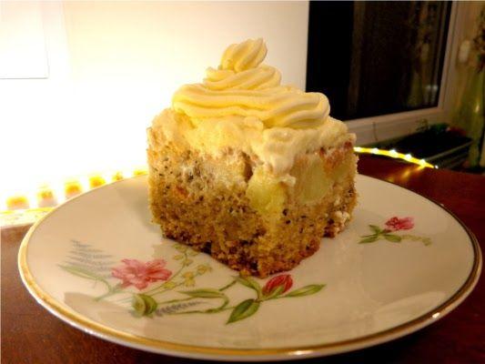 Pyszne ciasto orzechowo-jabłkowe a'la keks