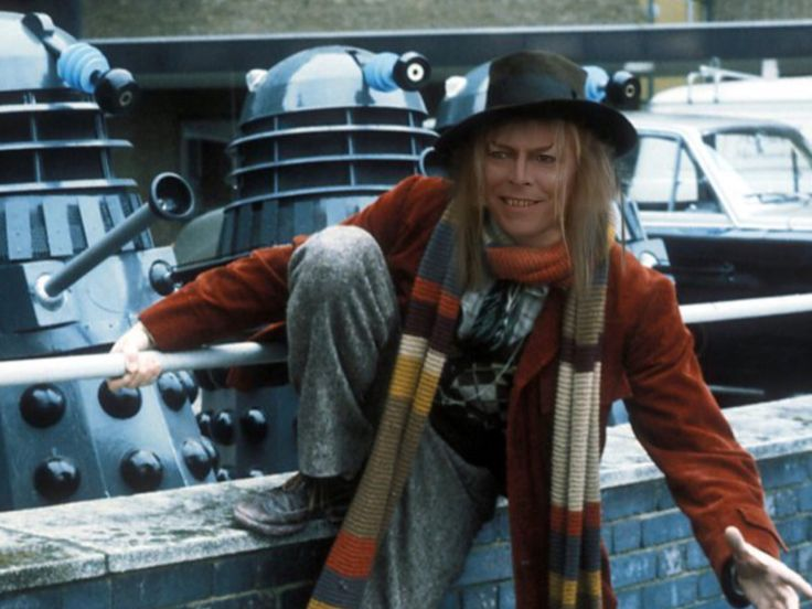 Jareth goes incognito as Dr. Who, complete with Daleks. 1986