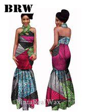 Custom privado cera africana de impresión falda del vestido de noche del partido elegante ( S-6XL ) por tradicionales africanos cera vestido de boda de Batik(China (Mainland))