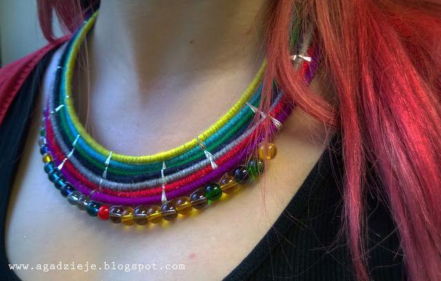 agadzieje: Naszyjnik Barwna masajka