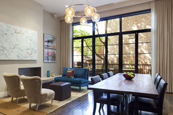 Dining room sitting room brooklyn heights brownstone for New york brownstone interior design