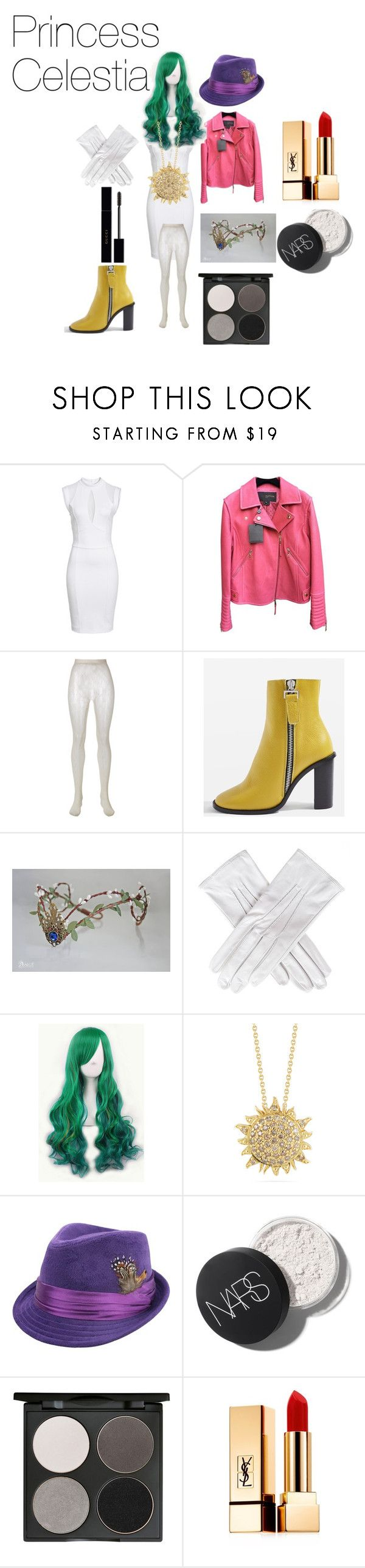"""""""Princess Celestia My Little Pony Friendship is Magic"""" by tori-camilleri on Polyvore featuring Sentimental New York, Louis Vuitton, Gucci, Topshop, Black, WithChic, Roberto Coin, Gorgeous Cosmetics and Yves Saint Laurent"""
