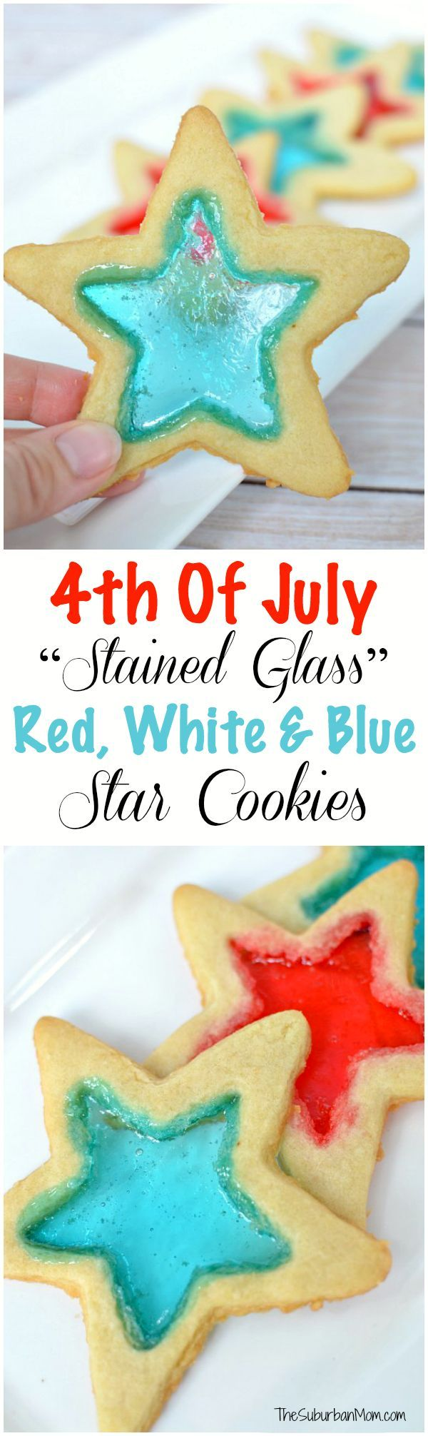 4th Of July Stained Glass Red, White & Blue Star Cookies. These stunning cookies are sure to draw attention at your party, and they are easier than they look.